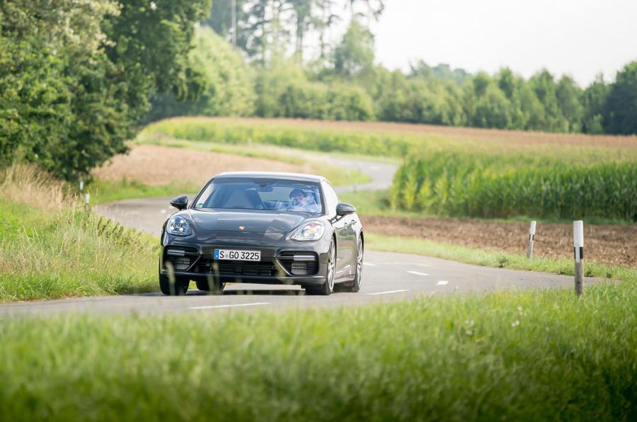 Porsche Panamera Turbo cornering