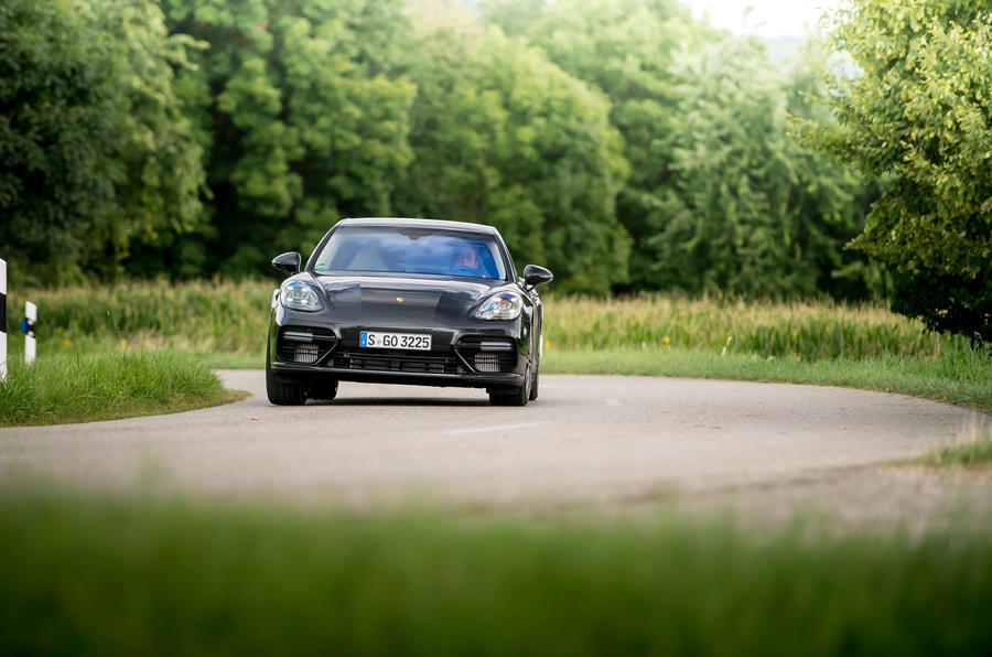 Porsche Panamera Turbo hard cornering