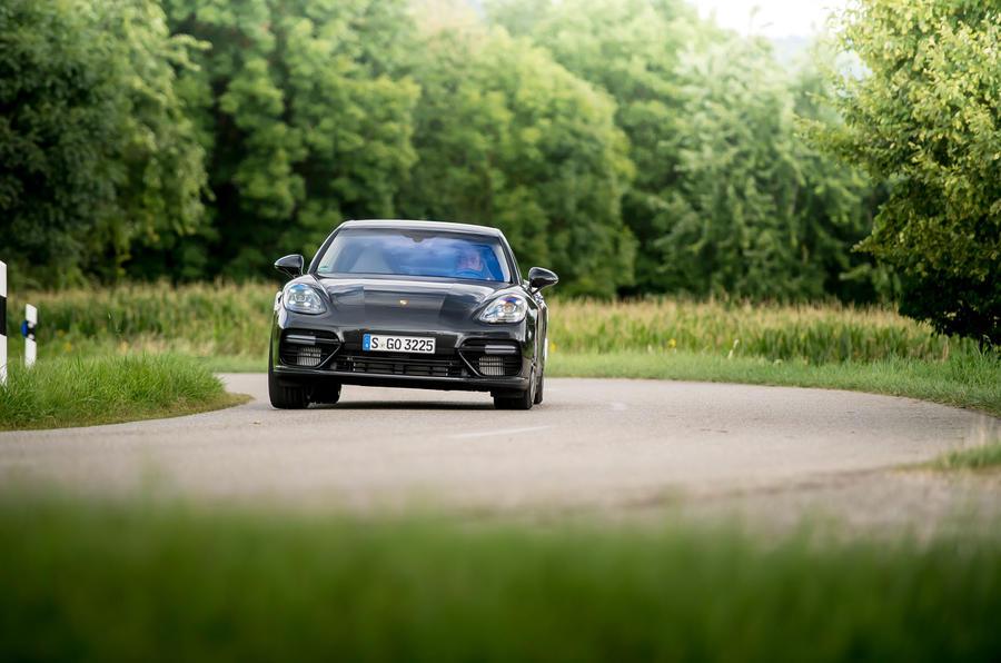 Porsche Panamera Turbo hard cornering