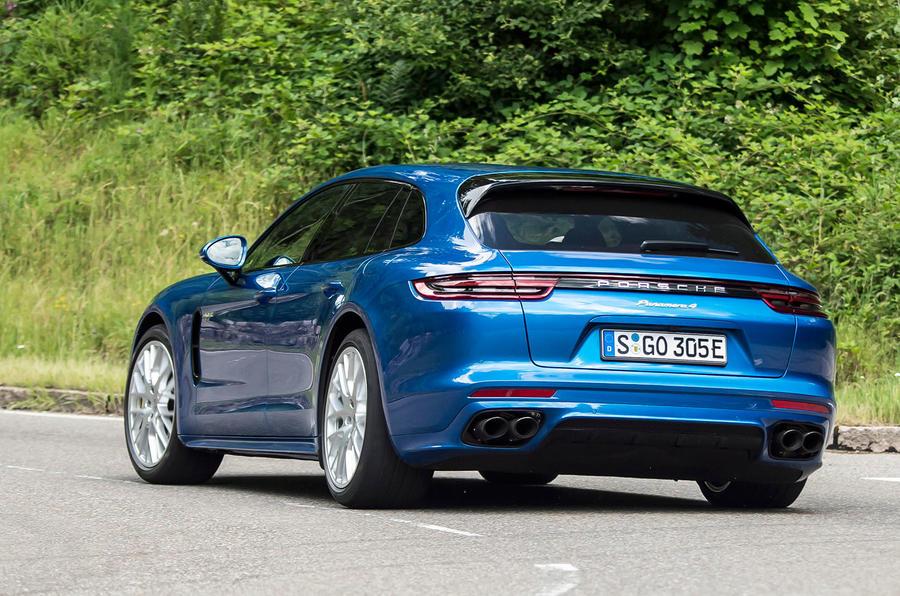 Porsche Panamera Sport Turismo rear cornering