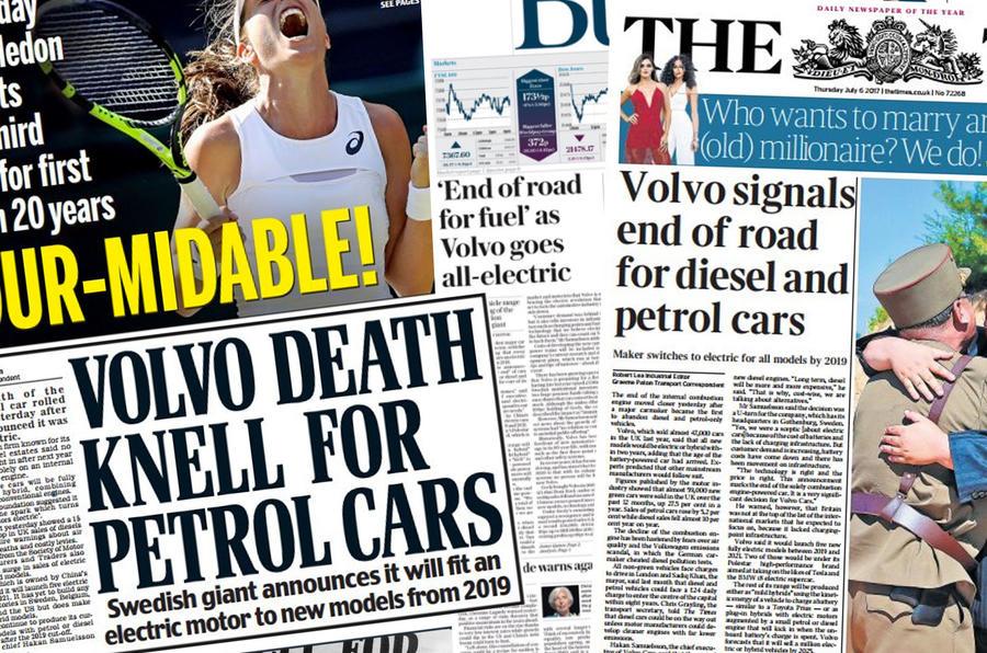 Volvo headlines