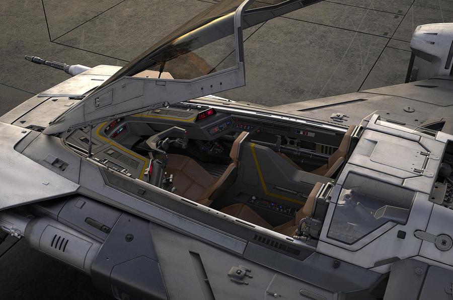 Porsche Star Wars spacecraft - interior