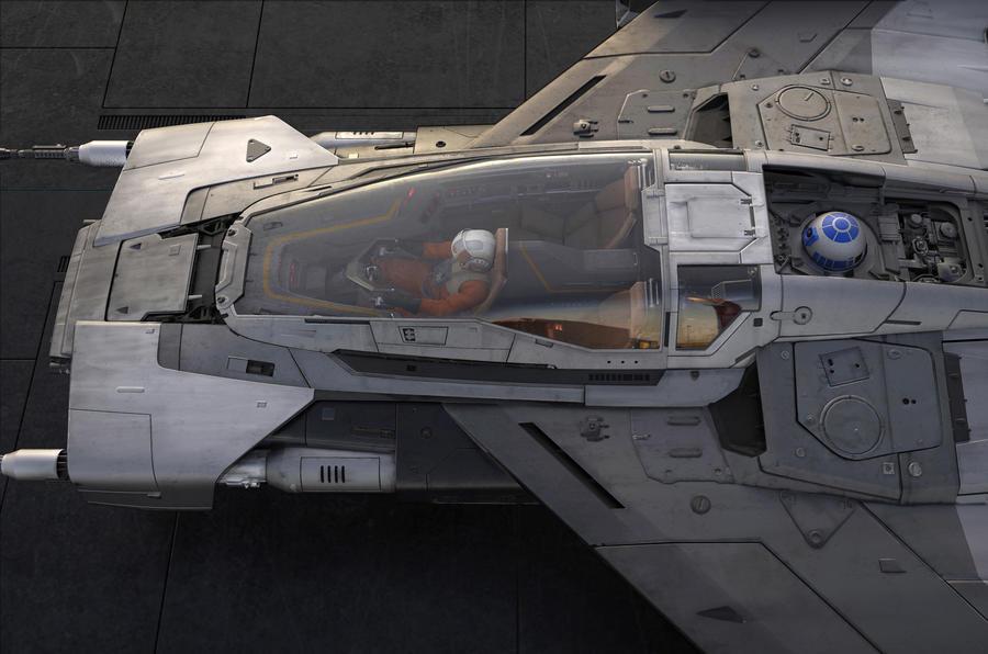 Porsche Star Wars spacecraft - cockpit