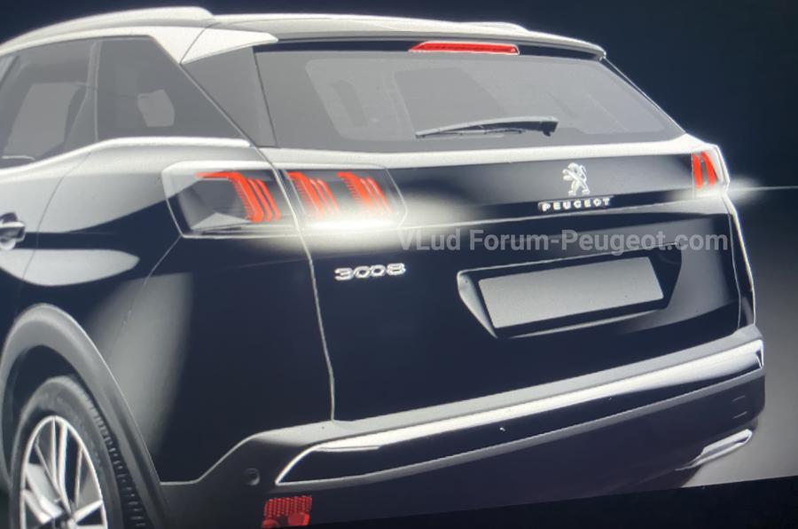 Peugeot 3008 facelift leaked images rear side