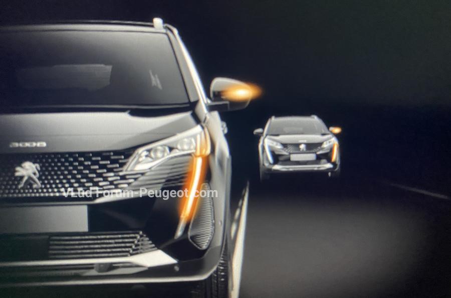 Peugeot 3008 facelift leaked images indicator