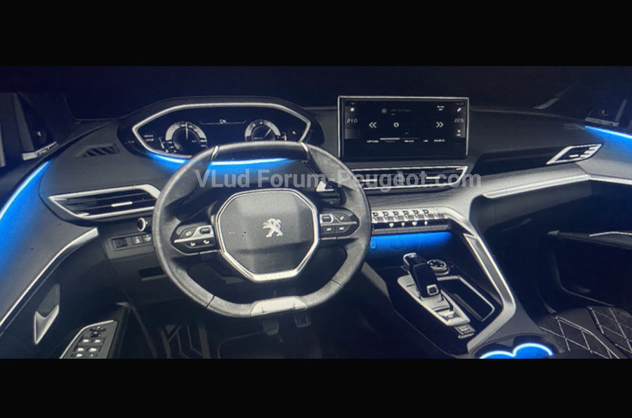 Peugeot 3008 facelift leaked images interior