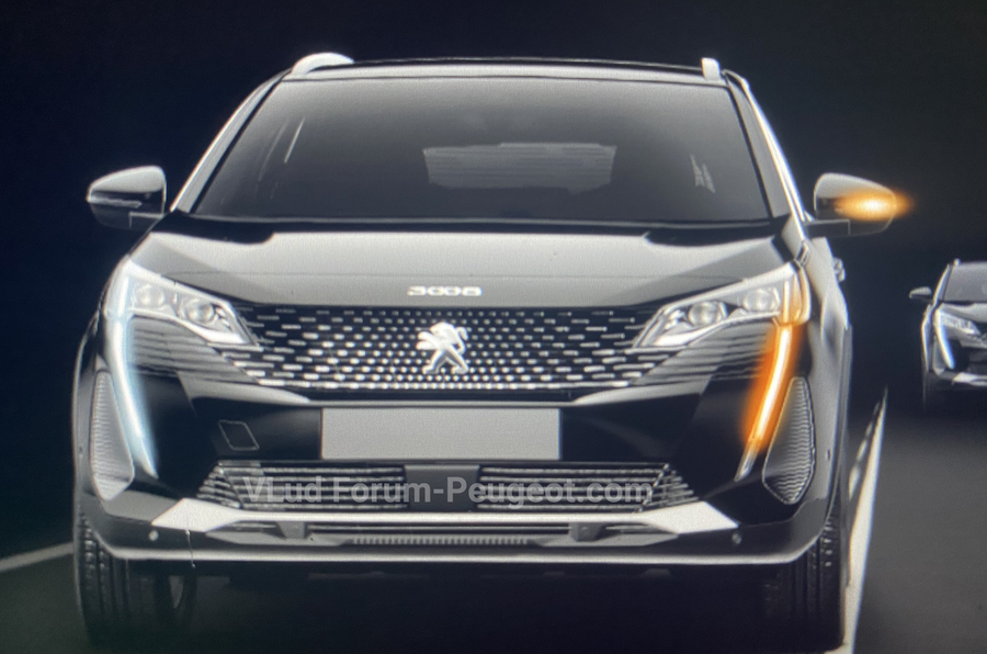Peugeot 3008 facelift leaked images indicating