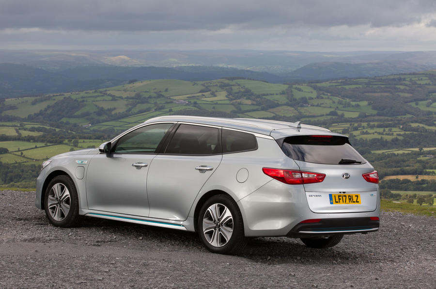 Kia Optima PHEV rear quarter