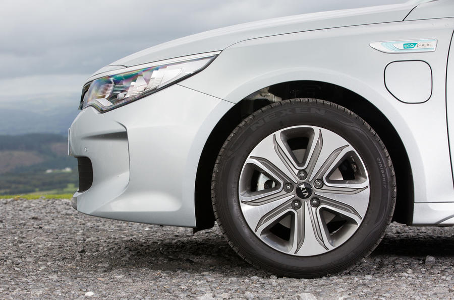 Kia Optima PHEV alloy wheels
