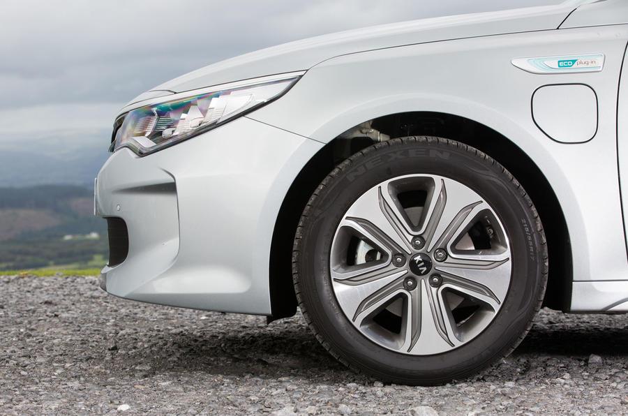 Kia Optima PHEV alloy wheels