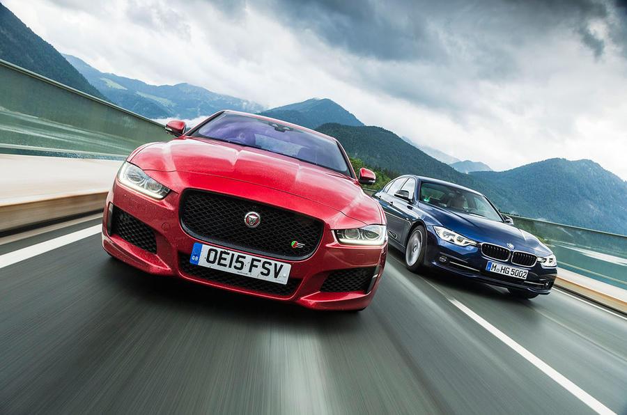 Jaguar XE and BMW 3 Series