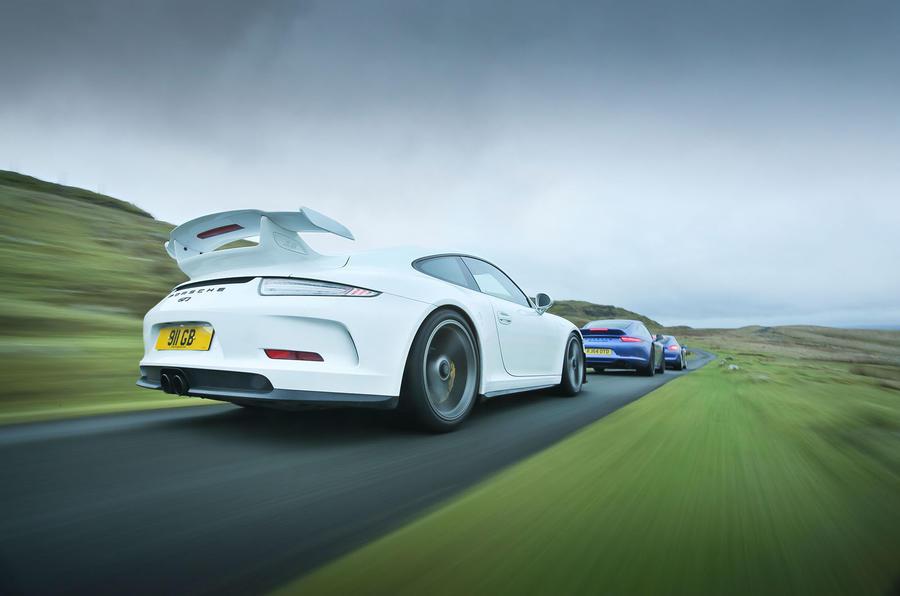 Porsche 911 GT3, Porsche 911 GTS and Porsche Cayman GTS