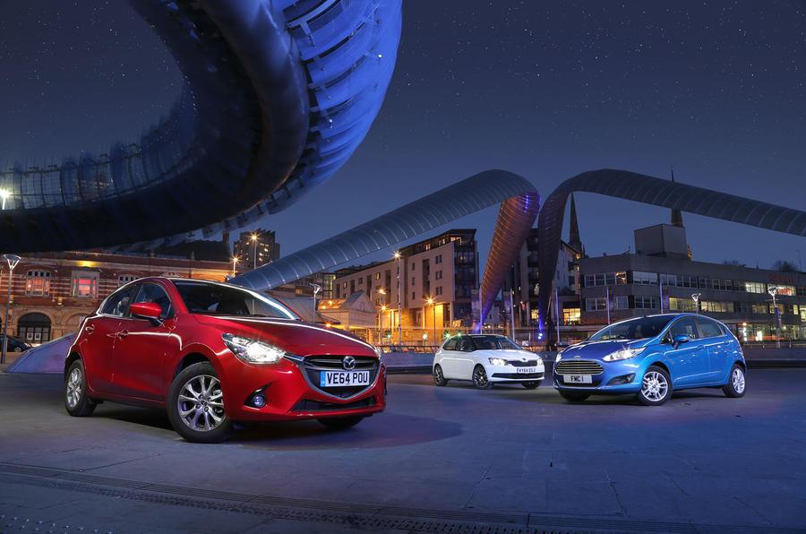 Mazda 2, Ford Fiesta and Skoda Fabia