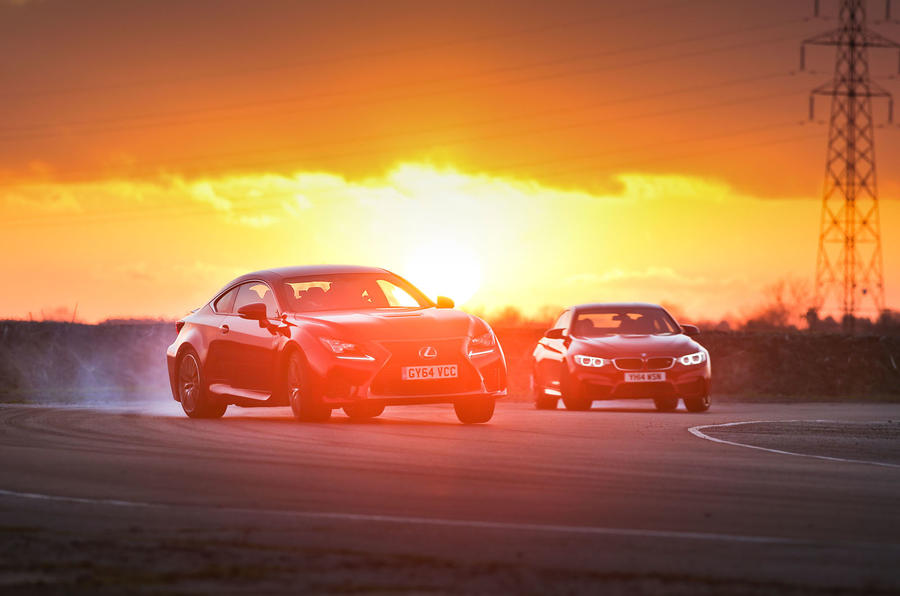 BMW M4 and Lexus RC F