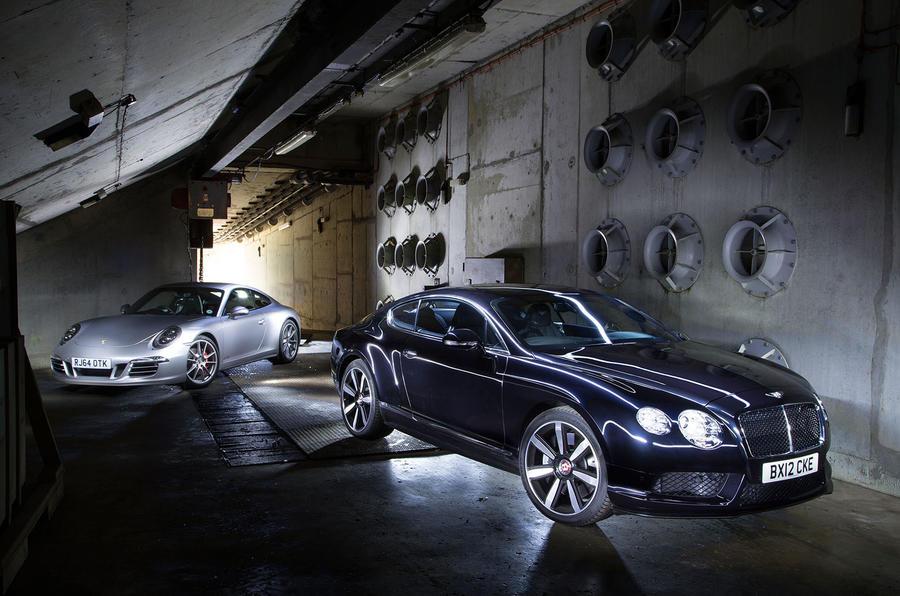 Bentley Continental GT V8 and Porsche 911 Carrera 4 GTS