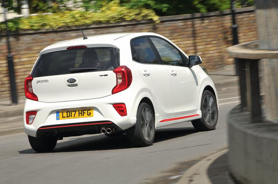 Kia Picanto rear cornering