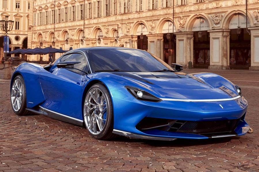 Pininfarina Battista in Turin - front three quarters
