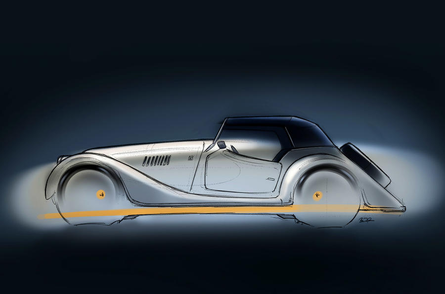 Morgan Plus 4 70th anniversary edition sketch