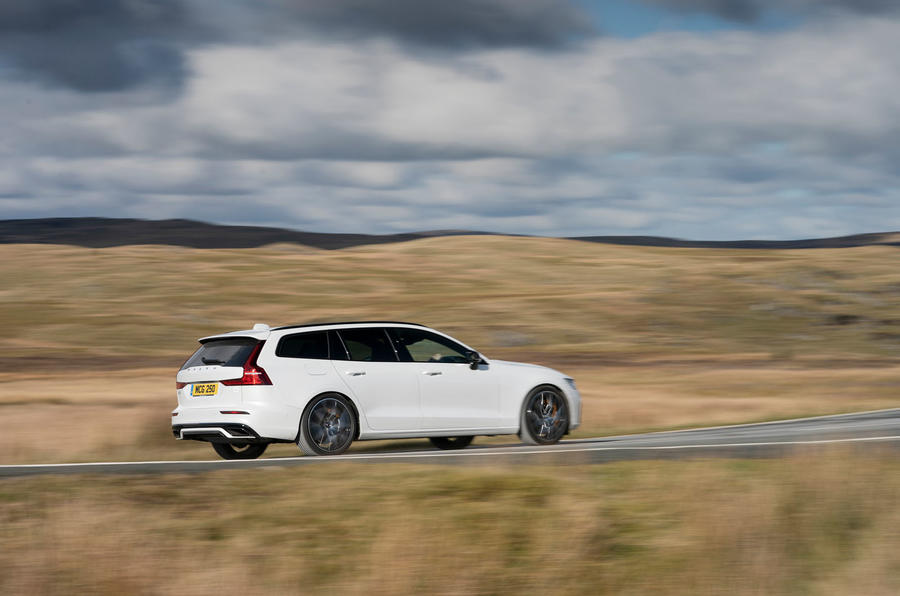 Volvo V60 T8 Polestar Engineered 2019 UK first drive review - on the road side