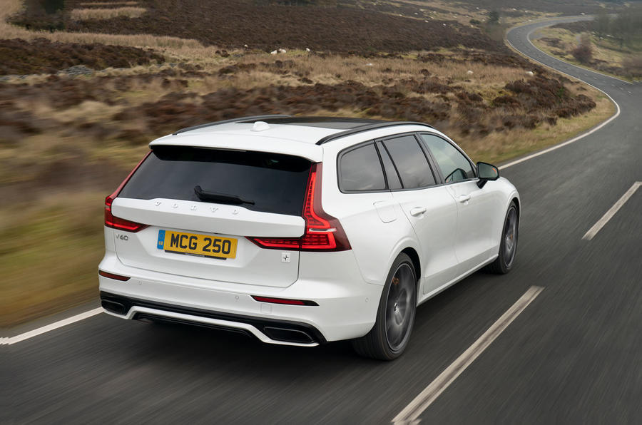 Volvo V60 T8 Polestar Engineered 2019 UK first drive review - hero rear