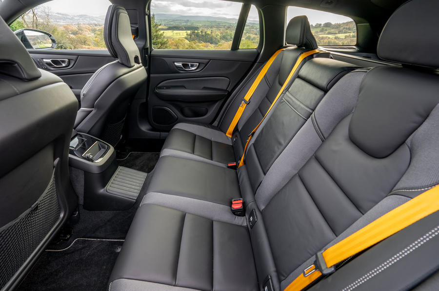 Volvo V60 T8 Polestar Engineered 2019 UK first drive review - rear seats