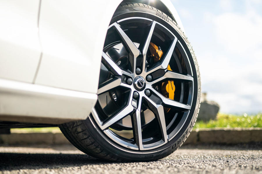 Volvo V60 T8 Polestar Engineered 2019 UK first drive review - alloy wheels