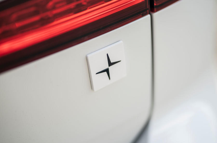 Volvo V60 T8 Polestar Engineered 2019 UK first drive review - rear badge