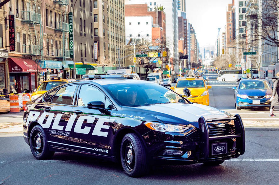 Ford Fusion hybrid NYPD car