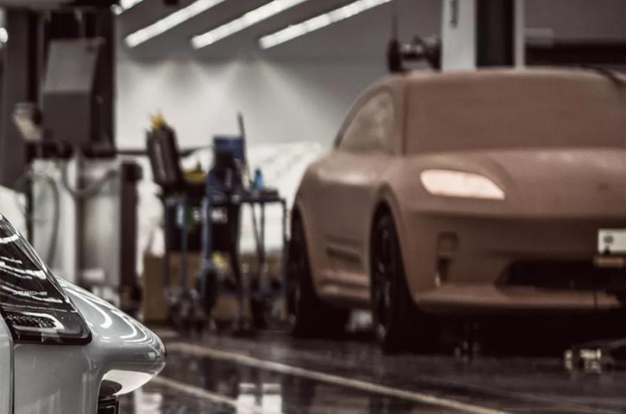Porsche Macan EV clay model
