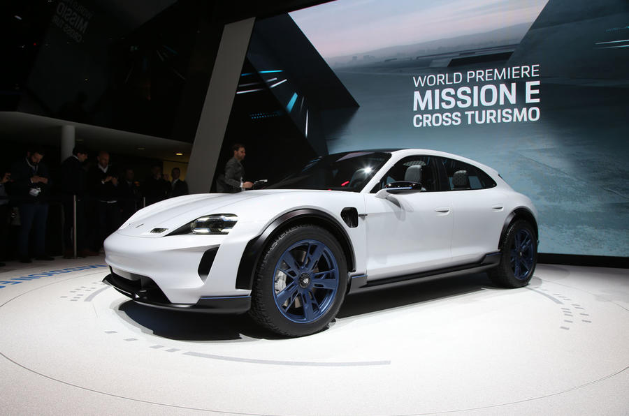 Porsche reveals Mission E Cross Turismo electric vehicle