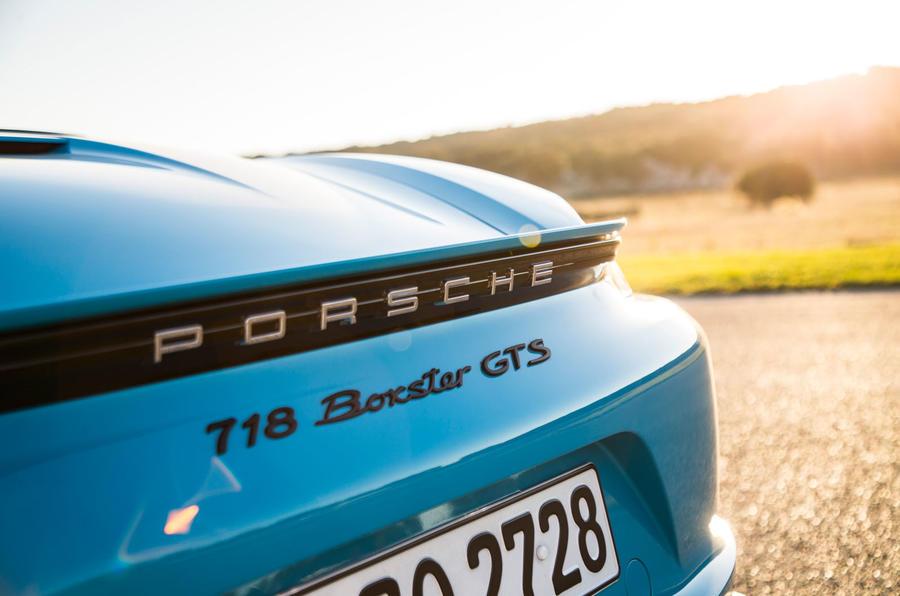 Porsche 718 Boxster GTS badging