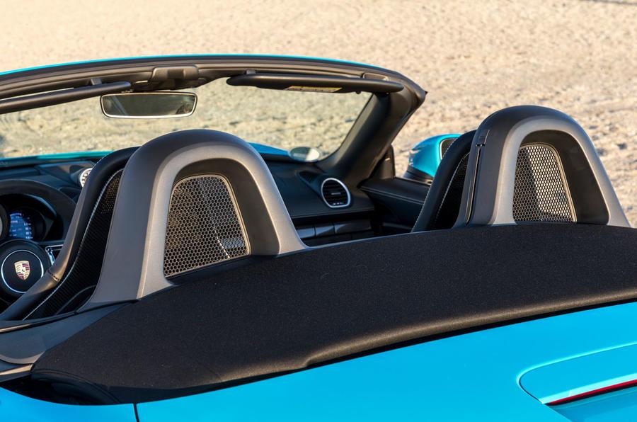 Porsche 718 Boxster GTS roof down