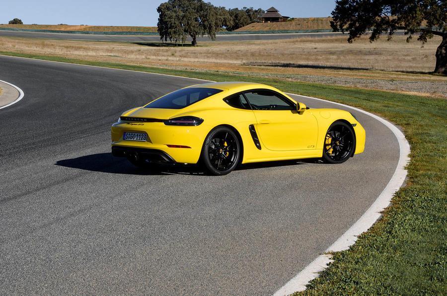Porsche 718 Cayman GTS rear quarter