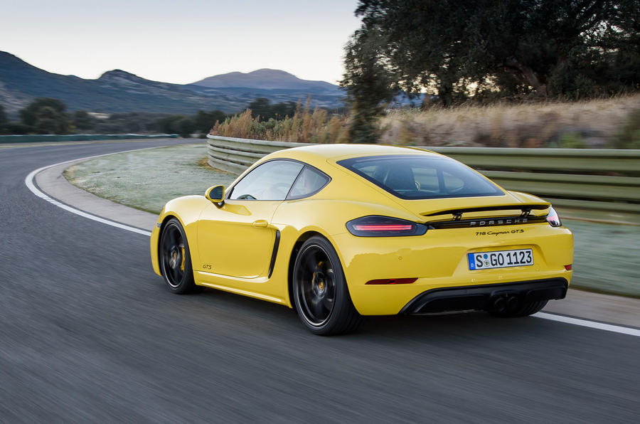 Porsche 718 Cayman GTS rear cornering