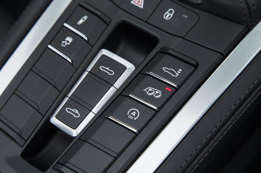 Porsche Boxster convertible roof controls
