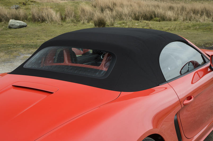 Porsche Boxster roof up