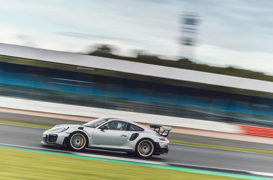 Porsche 911 GT2 RS on the track