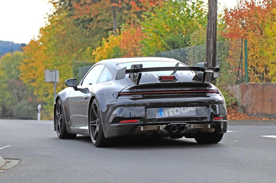 2020 Porsche 911 GT3 spies prolongation physique rear