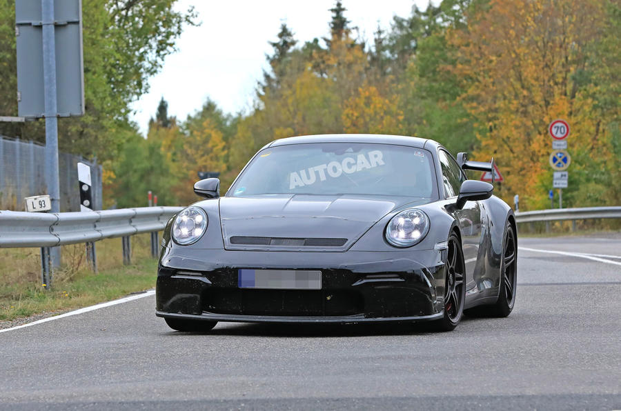 2020 Porsche 911 GT3 spies production body air intake