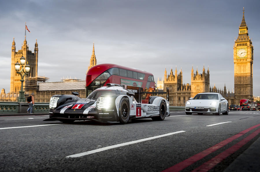 Porsche's Le Mans-winning 919 Hybrid hits the streets of London