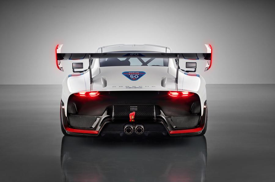 Porsche 935 race car 2018 reveal rear