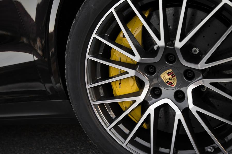 Porsche Cayenne S yellow brake calipers