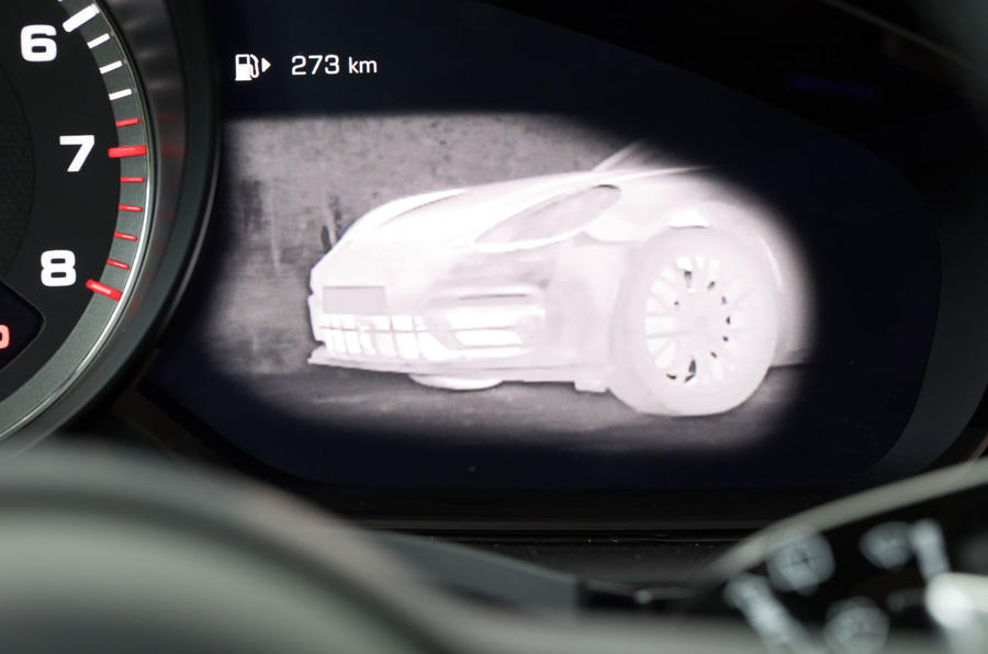 Porsche Cayenne Turbo infrared camera