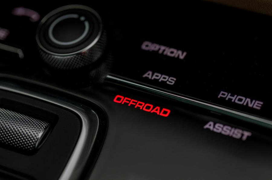 Porsche Cayenne Turbo off-road mode