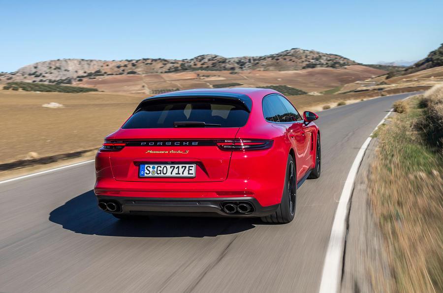 Porsche Panamera Turbo S E-Hybrid Sport Turismo rear cornering