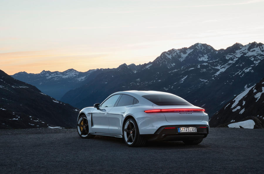 2020 Porsche Taycan reveal images - static rear