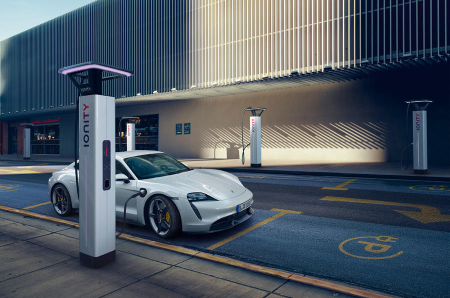 2020 Porsche Taycan reveal images - charging