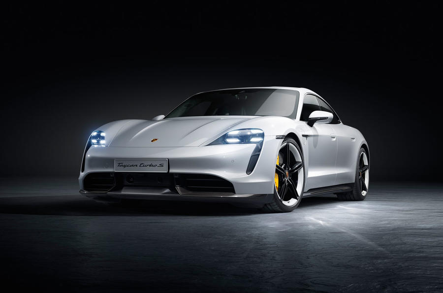 2020 Porsche Taycan reveal images - static front