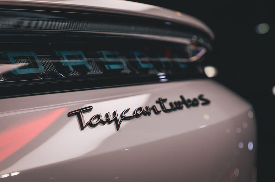 Porsche Taycan 2020 official reveal - badging