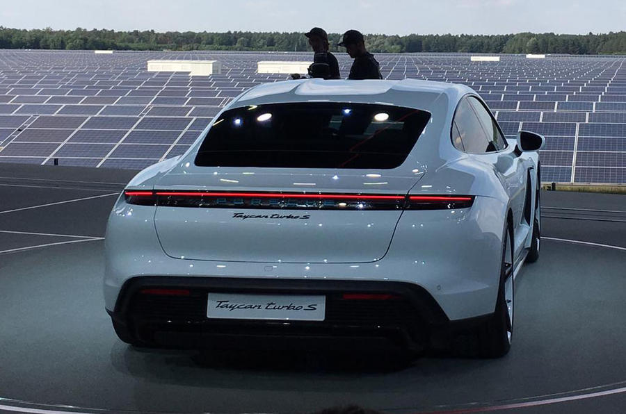 Porsche Taycan 2020 official reveal - rear